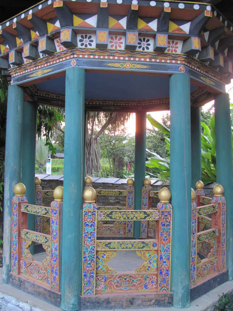 This is another pavilion within the courtyard.