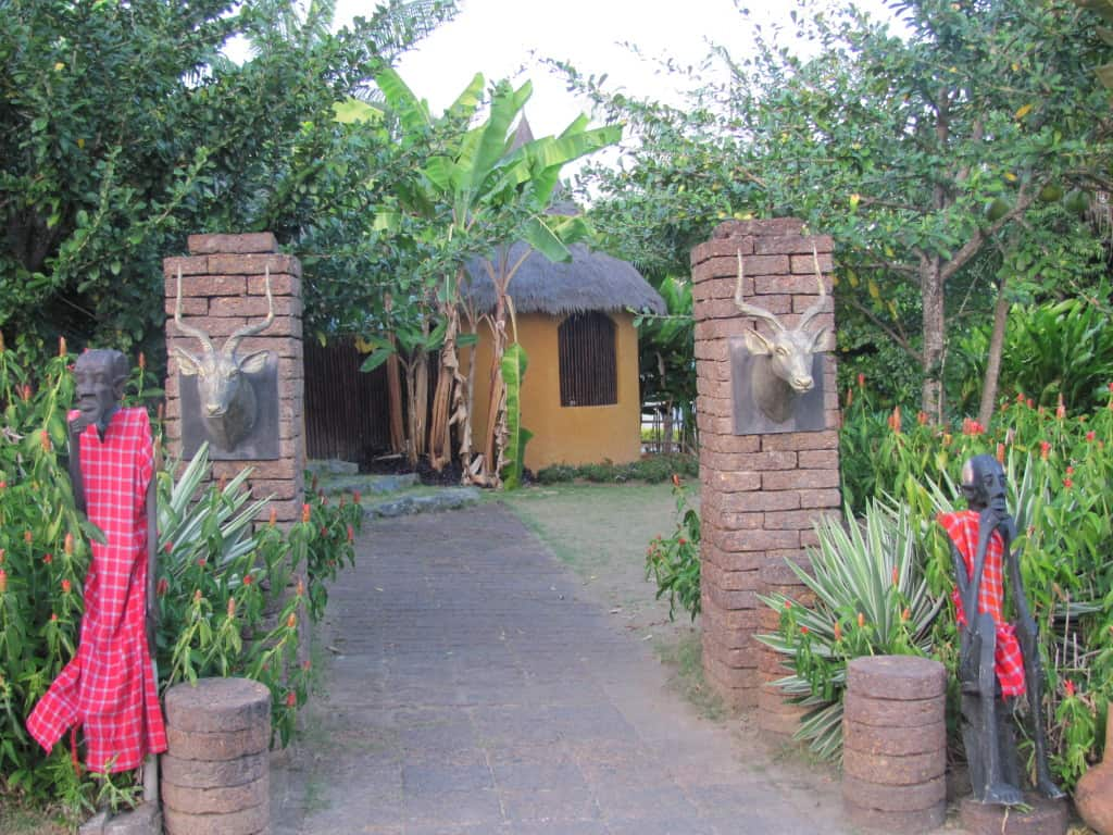 This is the entrance to the Kenya garden.