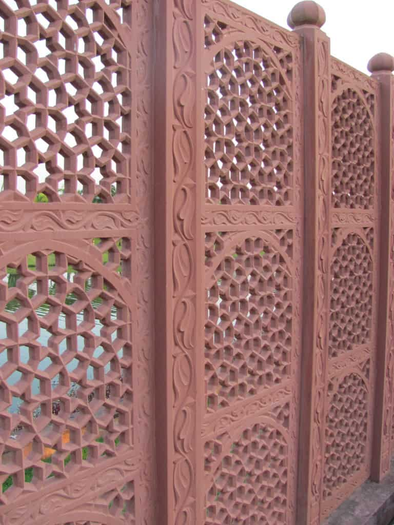 This screen in the garden from India caught my eye.