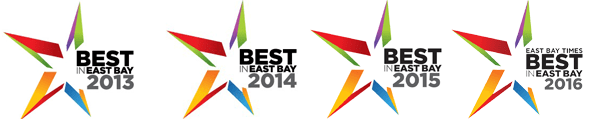 Voted Best in the East Bay 2013 2014 2015 2016